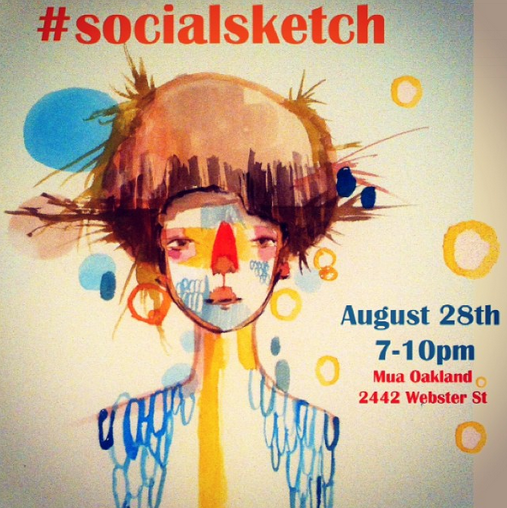 #socialsketch #drinkanddraw